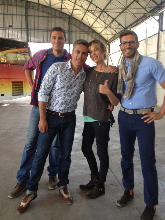 Con il mio design team: Luca Pirani, Luca Bortolotto e Gianni Trisciuzzi