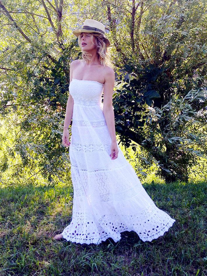 1b9a5dd5696a Vestiti bianchi lunghi estivi – Abiti in pizzo