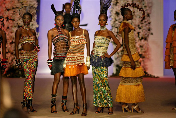 YSL-African-beaded-dresses