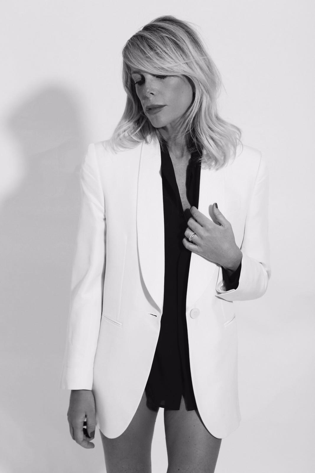 giacca bianco e nero