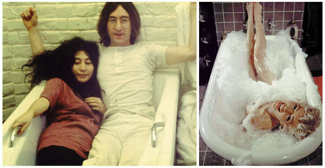 Marilyn Monroe, John Lennon, Yoko Ono