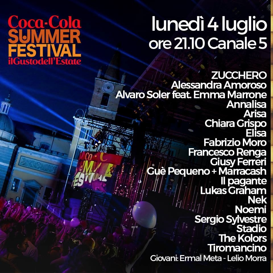 coc a cola summer - scaletta